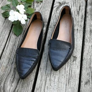 J.crew Pointed Black Shoes  | Size 7.5